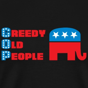 Grand Old Party (GOP) = Greedy Old People Hoodies - Men's Premium T-Shirt