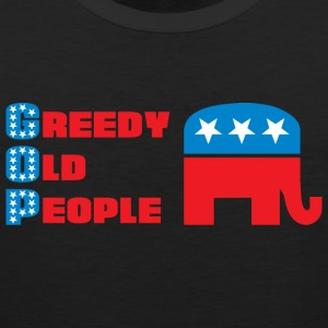 Grand Old Party (GOP) = Greedy Old People T-Shirts - Men's Premium Tank