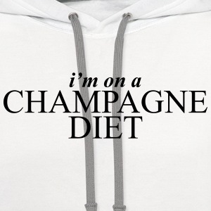 I'm on a champagne diet Women's T-Shirts - Contrast Hoodie