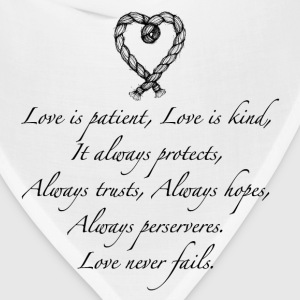 Love is patient..(with heart) - Bandana