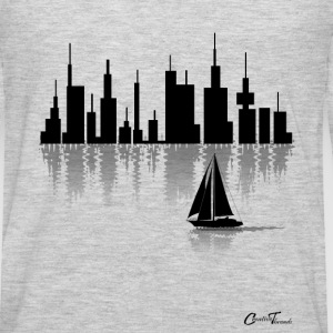 sailing-cityline-blk Tank Tops - Men's Premium Long Sleeve T-Shirt