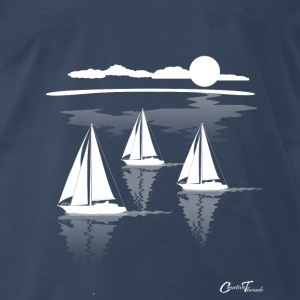 sailing-sea-wht Tank Tops - Men's Premium T-Shirt