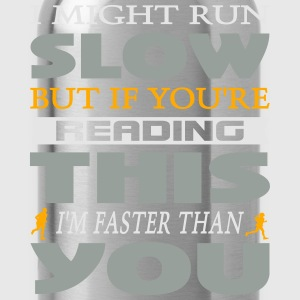 I Might Run Slow Hoodies - Water Bottle
