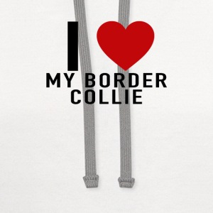 i_heart_my_border_collie_tshirt - Contrast Hoodie