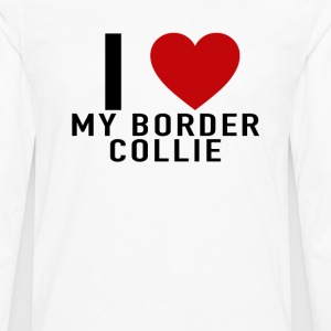 i_heart_my_border_collie_tshirt - Men's Premium Long Sleeve T-Shirt