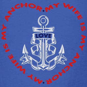 My Wife Is My Anchor Long Sleeve Shirts - Men's T-Shirt