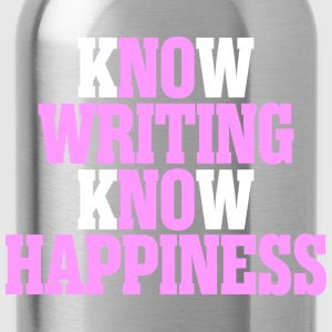 Know Writing Know Happiness - Water Bottle