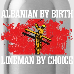 Alabanian By Birth Lineman - Water Bottle