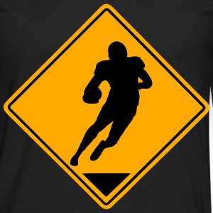 Football Road Sign T-Shirts - Men's Premium Long Sleeve T-Shirt