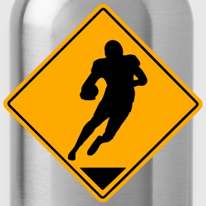 Football Road Sign T-Shirts - Water Bottle