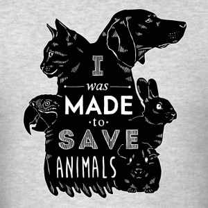 I was made to save animals bl Veterinarian T-shirt Tank Tops - Men's T-Shirt