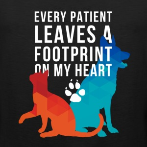 A footprint on my heart Veterinarian T-shirt Women's T-Shirts - Men's Premium Tank