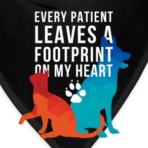A footprint on my heart Veterinarian T-shirt Tanks - Bandana