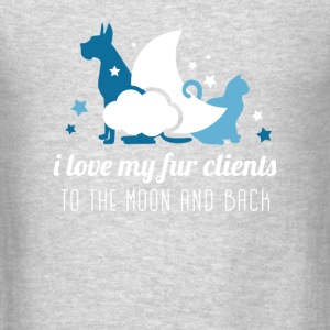 I love my fur clients Veterinarian T-shirt Tanks - Men's T-Shirt