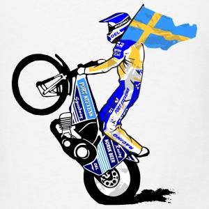Speedway driver with swedish flag Long Sleeve Shirts - Men's T-Shirt