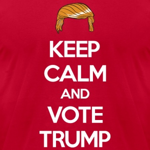 Keep Calm and Vote Trump 2016 Election Long Sleeve Shirts - Men's T-Shirt by American Apparel
