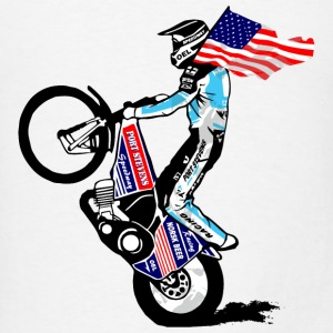 Speedway driver with USA flag Tanks - Men's T-Shirt