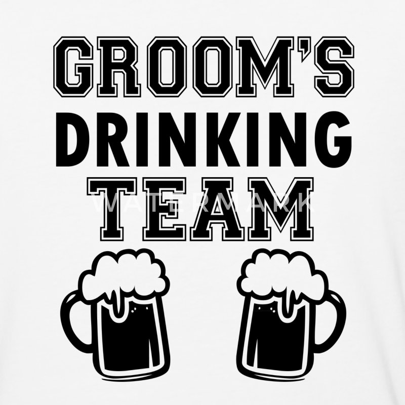 Groom's Drinking Team funny groomsmen - Baseball T-Shirt