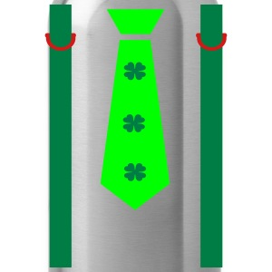 st.Patrick's day strap tie Men's Ringer T-Shirt - Water Bottle