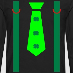 st.Patrick's day strap tie Men's Ringer T-Shirt - Men's Premium Long Sleeve T-Shirt