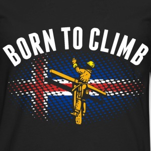 Born To Climb Icelander Lineman - Men's Premium Long Sleeve T-Shirt