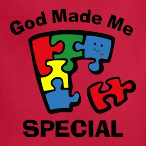 Autism God Made Me Special Kids' Shirts - Adjustable Apron