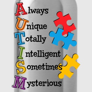 Autism Acrostic Kids' Shirts - Water Bottle