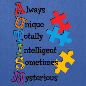Autism Acrostic Kids' Shirts - Tote Bag