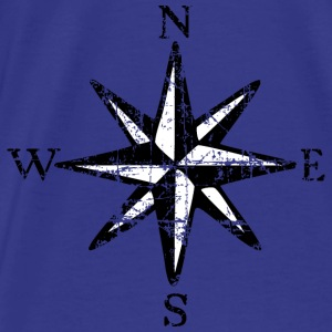 Compass Rose Vintage Bicolor Tote Bag - Men's Premium T-Shirt