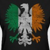 Polish White Eagle Irish Flag Women's T-Shirts - Women's T-Shirt