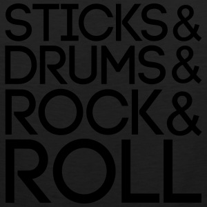 Sticks Drums Rock + Roll T-Shirts - Men's Premium Tank