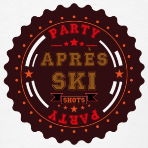 Apres Ski Party Logo Buttons - Men's T-Shirt