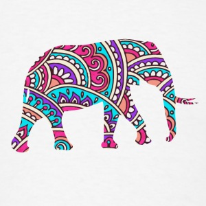 Colorful elephant Caps - Men's T-Shirt