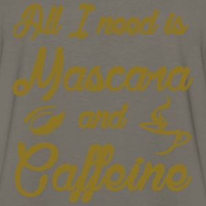 All I Need is Mascara and Caffeine camo shirt - Men's Premium Long Sleeve T-Shirt