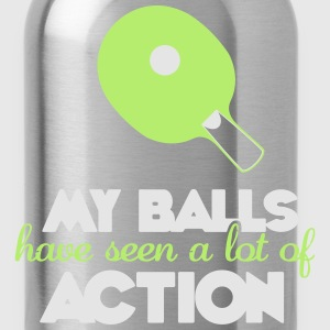 my balls have seen a lot of action Tank Tops - Water Bottle