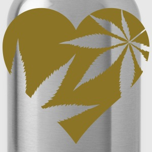 cannabis love Polo Shirts - Water Bottle