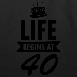 Life Begins At 40 Women's T-Shirts - Eco-Friendly Cotton Tote