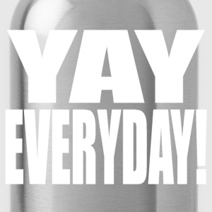 Yay Everyday (White) Tank Tops - Water Bottle