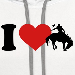 I love Rodeo Women's T-Shirts - Contrast Hoodie
