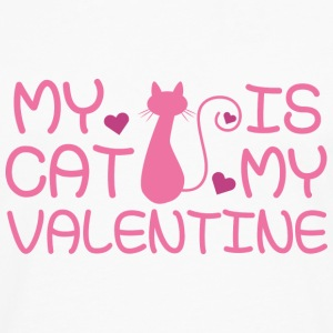 My Cat Is My Valentine - Men's Premium Long Sleeve T-Shirt