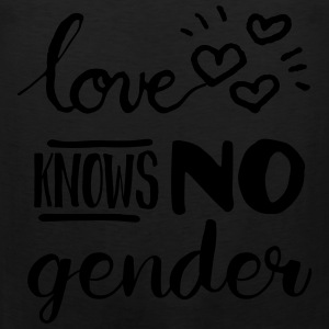 Love Knows No Gender LGBT Pride Women's T-Shirts - Men's Premium Tank