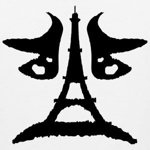 Eiffel tower Rorschach test - Men's Premium Tank