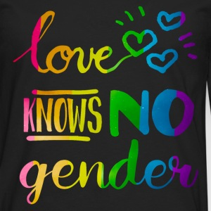 Love Knows No Gender LGBT Pride Rainbow T-Shirts - Men's Premium Long Sleeve T-Shirt