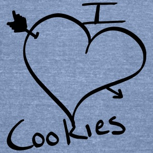 i <3 Cookies Tank - Unisex Tri-Blend T-Shirt by American Apparel