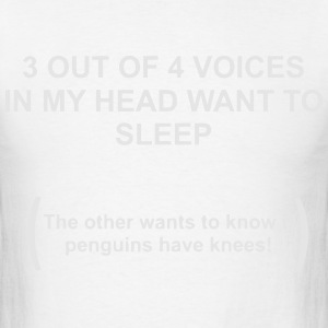 3 out of 4 voices in my hand want to sleep Hoodies - Men's T-Shirt