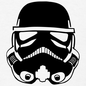 Stormtrooper Helmet Design BUTTONS - Men's T-Shirt