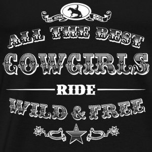 Cowgirls white Tanks - Men's Premium T-Shirt