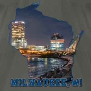 Downtown Milwaukee WI Winter - Men's T-Shirt by American Apparel