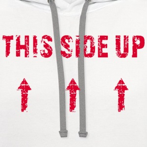 This Side Up - red T-Shirts - Contrast Hoodie