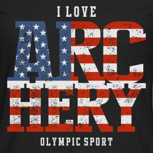 I Love Archery USA T-Shirts - Men's Premium Long Sleeve T-Shirt